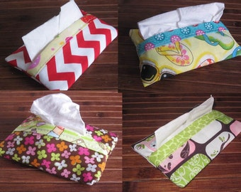 Pouch/Holster for ideal tissue for hands, travel bag and for children at school