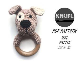 CROCHET PATTERN rattle dog