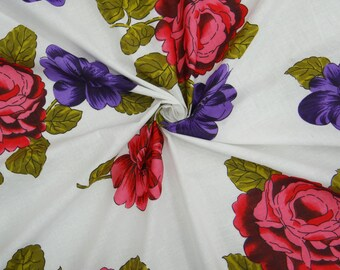 Apparel Fabric Material Cotton Fabric For Sewing Designer Dressmaking Cotton Fabric Crafting Sewing Floral Pattern Supplies By Yard ZBC6384