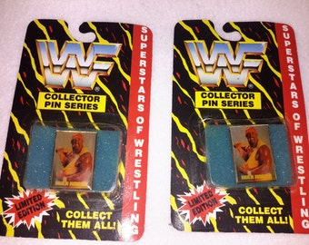 Vintage WWF Hulk Hogan Pin Hulkamania button WWE Wrestling