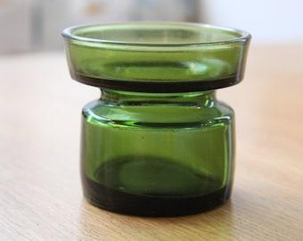 Vintage Dansk Design IHQ green votive candle holder