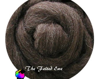 Needle Felting Wool Roving / NR3 Coffee Bean Carded Wool Roving Sliver