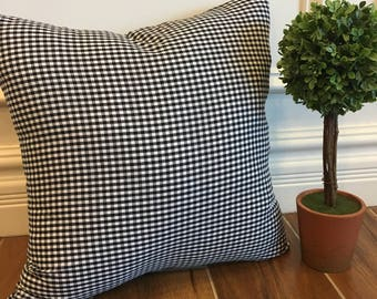 Black and white gingham pillow cover, farmhouse pillow, country pillow