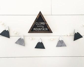 Olympus Mountain Garland - Mountain Nursery Decor - Boy Nursery Decor - Felt Garland - Northwestern Decor - Wall Art - Boys Room Wall Decor