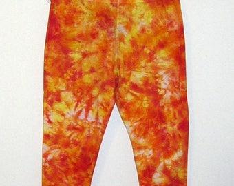 Premade Tie Dye X Large Women Capri Leggings Cotton Spandex