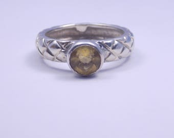 Beautiful sterling silver citrine ring size 7