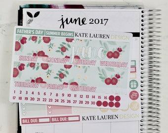 Spring Dreamer June Monthly Kit for the Erin Condren Life Planner, June Sticker Kit, Monthly June Kit,Spring Sticker Kit, Spring Planner Kit