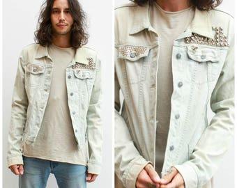 Studded Denim Jacket / SIze