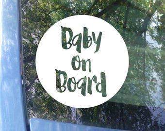 Baby on Board Decal | Car Decal | Window Decal | New Baby | Baby Shower Gift | Baby on board Sticker | Window Decal | Baby on Board Sign