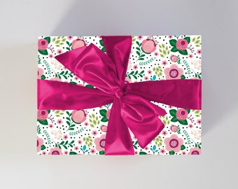 Floral Gift Wrap | Birthday + Mother's Day Wrapping Paper