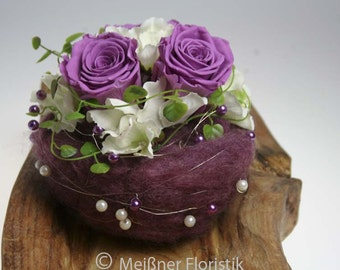 Arrangement ball table decorations wedding Berry purple
