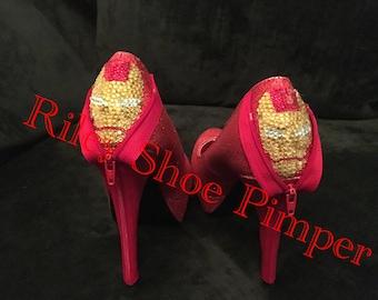 Glitter Iron Man Heels