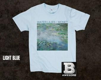Claude Monet Water Lilies 1906 T-Shirt, Vintage Painting Shirt