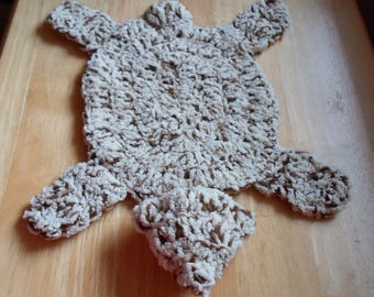 handmade crochet bearskin rug for barbie or doll house - Bearskin Rug