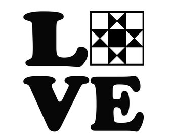 Love Quilting Vinyl Decal, for Sewing Machines, Macbooks, Laptops, Cars, Trucks, Crafts.  Quilt Sticker 0195
