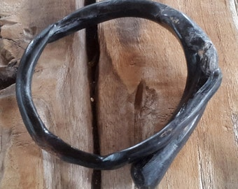 Antique Akar Bahar Indonesian Black Coral Handmade Bangle Bracelet#3