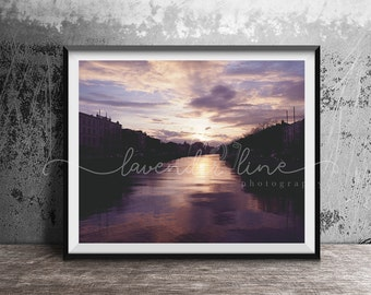 DUBLIN'S GOLDEN HOUR, Colour Photography Print, Dublin City Sunset, Golden Hour, City, Cityscape, Travel, Wanderlust, Home Decor