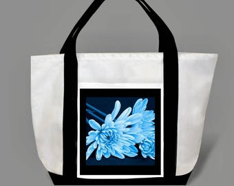 Blue flowers tote