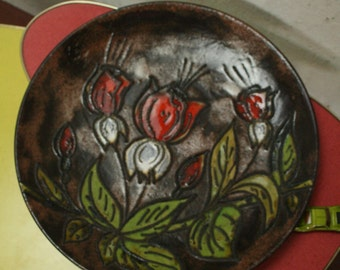 west german pottery wall plate by Ruscha
