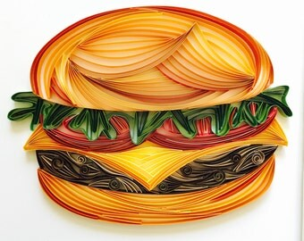 Paper Quilled Burger