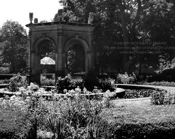 Black and White New Harmony, Pennsylvania Art Photograph INSTANT DOWNLOAD Digital Printable Art Photograph