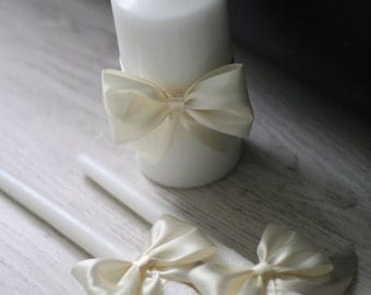 Ivory Wedding Candles / Ivory Unity Candles / Wedding Unity Candle Ceremony Candles, Church unity candles ivory pillar candle, stick candles