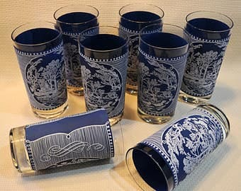 Currier and Ives Drinking Glasses, Currier and Ives Collectible Tumblers