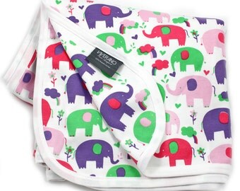 Viverano Pure Organic Cotton Baby Blanket, Stroller & Nursing Cover (4 Prints) Double Layer, Super Soft, Absorbent, Non-Toxic
