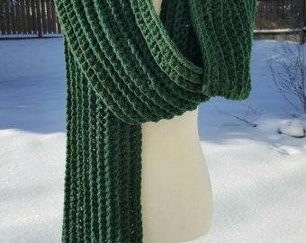xl hunter green scarf