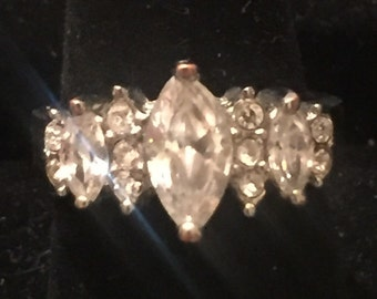 Vintage Sterling Silver Cubic Zirconia Ring