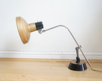 Mid century industrial Super Chrome jewellers desk lamp