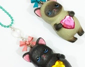 Super Kawaii Kitty necklaces // choose your kitty <3