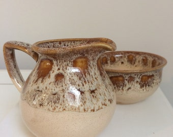 Foster Pottery milk jug and sugar bowl