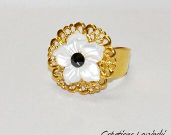 Pearl Adjustable ring