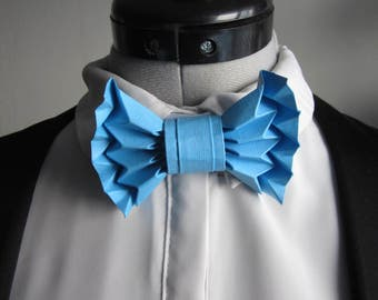 bow tie in origami blue - mixed