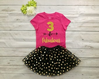 Thirt Birthday sparkly, glitter outfit, 3 Birthday outfit, Special order Girl Birthday outfit