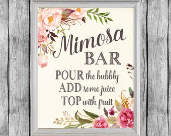 Genius image in mimosa bar sign printable free