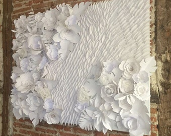 Picture white paper flowers