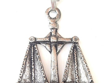 Vintage Scales Pendant Handcrafted in Solid Pewter In The UK + Free GiftBox