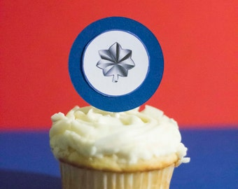 Military Rank Cupcake Toppers (All branches & ranks available)  USAF, USMC, Army, Navy