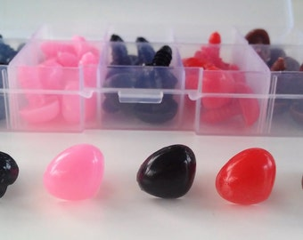 Box noses of safety colors (50 units) - Safety 13x15mm 13x15mm nose Box (50 units) - Amigurumi-Making doll-toys supplies