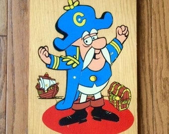 Fisher-Price Captain Crunch Wooden Puzzle 1970s