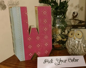Book Letter W - Custom UpCycled Vintage Readers Digest