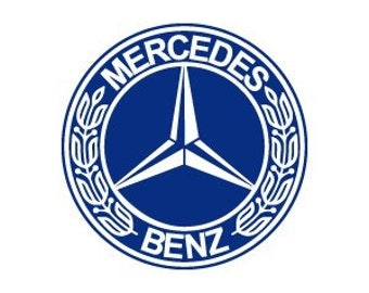 Mercedes stickers etsy for Mercedes benz logo stickers