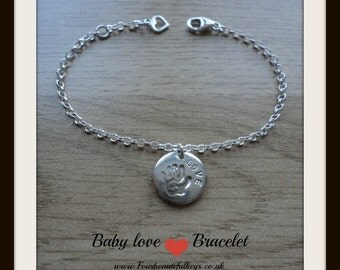 Baby Love (Chunky Disc) Personalise this bracelet