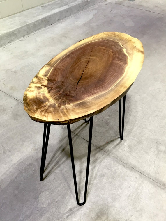 Shell - Live Edge Walnut End Table