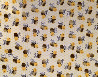Honeycomb Bee Snuggle Flannel Blanket
