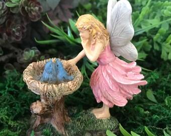 Miniature Fairy and Baby Blue Bird Nest