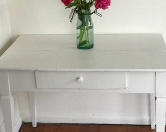 Vintage French farm table with new paint