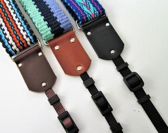 "NEW! Leather Camera Strap Kit for a 1.5"" Camera Strap, Replacement Camera Strap Ends"